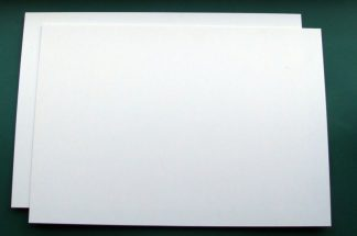 "30 thou (.030"") 0.75mm thick white plastic card"