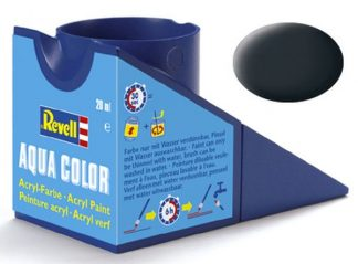 Revell 36109 Acrylic Paint 'Aqua' 18ml Solid Matt Anthracite RAL7021