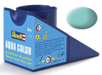 Revell 36155 Acrylic Paint 'Aqua' 18ml Solid Matt Light Green RAL6027