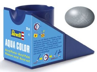 Revell 36191 Acrylic Paint 'Aqua' 18ml Solid Metallic Steel