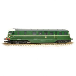 Graham Farish 371-628 GWR Railcar W22W - BR Brunswick Green Speed Whiskers (N gauge)