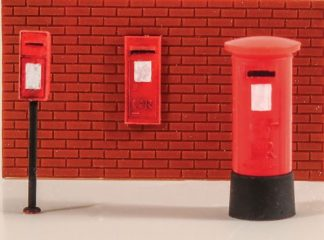 Model Scene 5044 Post Boxes (6) (OO scale)