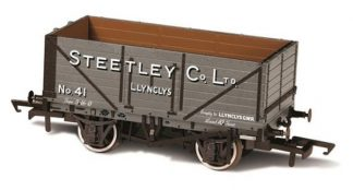 Oxford Rail 76MW7024 7 Plank Wagon Steetley and Co Llynclys (OO gauge)