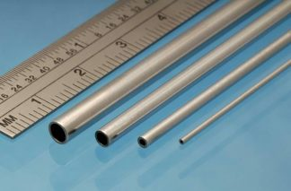 Albion Alloys AT5M Aluminium Tube 5.0mm x 0.45mm (2 pieces)