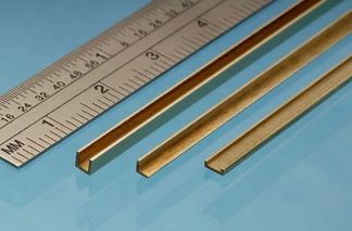 Albion Alloys CC3 Brass C Channel 1mm x 3mm x 1mm x 305mm (1 piece)