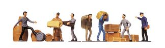 Faller 151001 Transprort Workers and Freight (7 figures HO/OO scale)