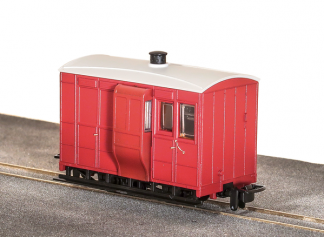 Peco GR-530UR 4 Wheel Brake Coach - Red (OO9 gauge)