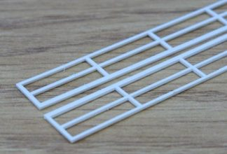 Plastruct HRS-4 Hand Rails (150mm x 11mm Pair) (OO scale)