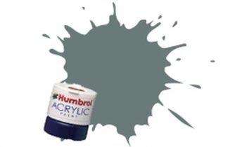 Humbrol 129 US Gull Grey Satin - Acrylic Paint 14ml