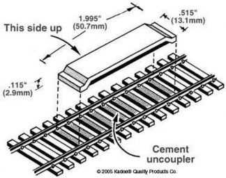 Kadee 321 Delayed Between the Rails Magnet Uncoupler Code 100(x2) (HO/OO gauge)