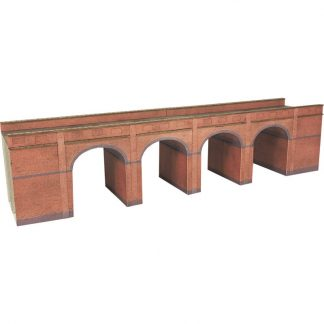 Metcalfe PN140 Red Brick Viaduct (N scale card kit)