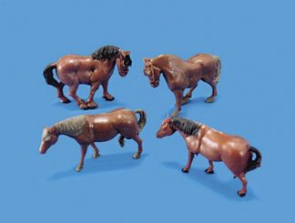 Model Scene 5105 Horses and Ponies (OO scale)