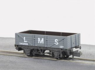 Peco NR-40M 5-plank Mineral Wagon, LMS Light Grey (N gauge)