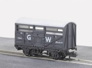 Peco NR-45W Cattle Truck, GW Dark Grey (N gauge)