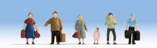 Noch 38115 Hobby Series - Pedestrians with Luggage (6 figures N gauge)