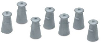 Peco LK-23 Milk Churns (24) (OO scale)