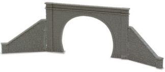 Peco NB-32 Tunnel Mouth & Walls, stone type, double track (N gauge)