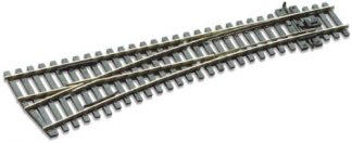 Peco SL-E196 Code 75 Electrofrog Left hand Turnout, medium radius (OO gauge)