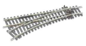 Peco ST-241 Setrack Left Hand Point No.2 Radius Insulfrog (Hornby R8072) (OO gauge)