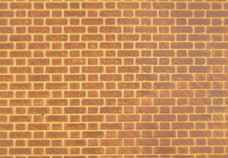 South Eastern Finecast FBS703 O 7mm Scale Flemish Bond Brick Embossed Styrene Sheet