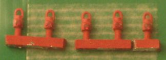 Springside Models N6 GWR Tail Lamps Red (5) (N gauge)