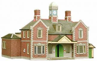 Superquick A10 Railway Terminus Building (OO scale card kit)