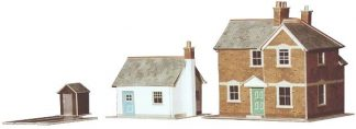 Superquick A11 Station Master's House and Gatekeeper's Cottage (OO scale card kit)