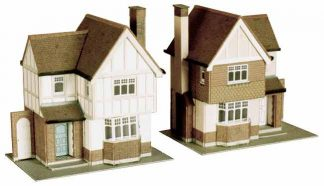 Superquick B23 Two Detached Houses (OO scale card kit)