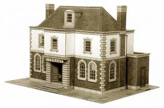 Superquick B25 Police Station or Public Library (OO scale card kit)