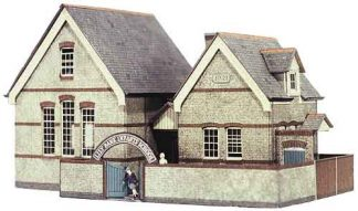Superquick B31 Village School (OO scale card kit)
