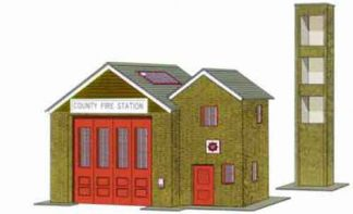 Superquick B36 Fire Station (OO card kit)
