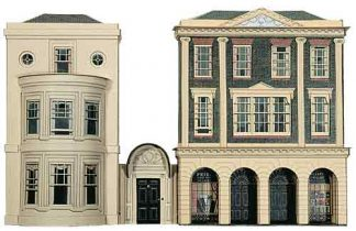 Superquick C4 Regency Period Shops and House (OO scale card kit)