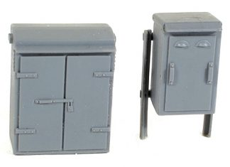 Wills SS88 Relay Boxes Set 2 (OO scale plastic kit)
