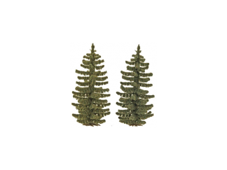 Busch 6132 Realistic Fir Trees (70mm tall. Pack of 2)