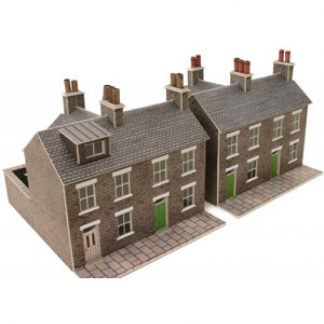 Metcalfe PN104 N Scale Terrace Houses in Stone (N scale card kit)