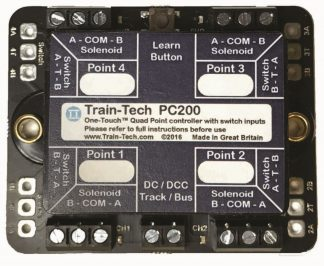 Train-Tech PC200 Quad One-Touch DCC Point controller with multiple Route Store & Switch control